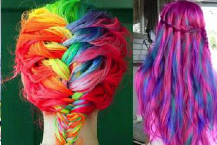 Colore capelli 2015: la moda è fluo!