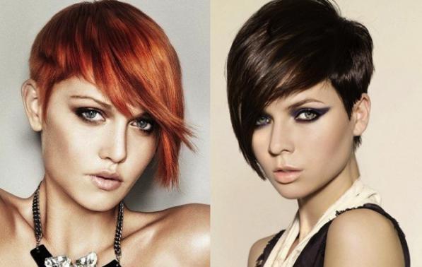 Taglio capelli doppio colore