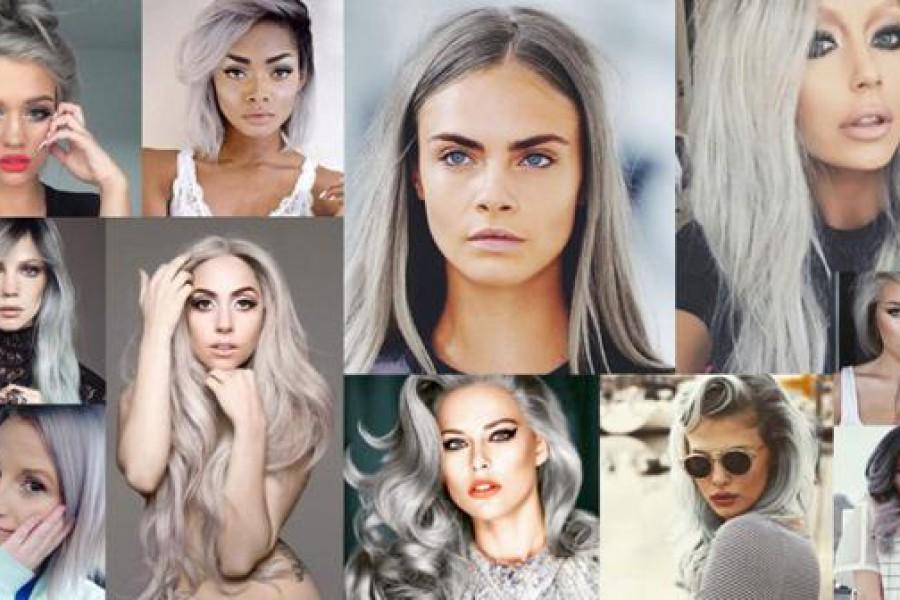 Colori capelli 2015: Granny Hair, la moda vuole i capelli grigio argento.