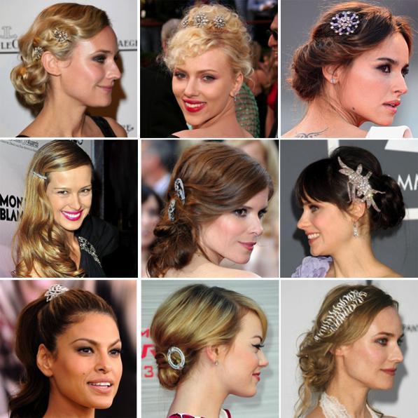 Gioielli per capelli, accessori e ornamenti tutti di strass