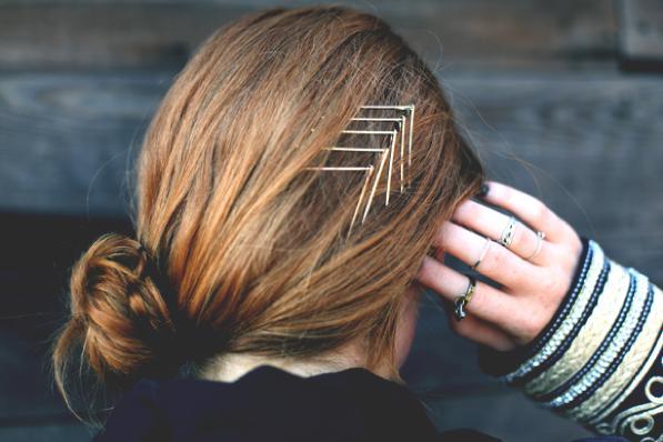 Mollette e forcine per capelli- idee per come usarle 1