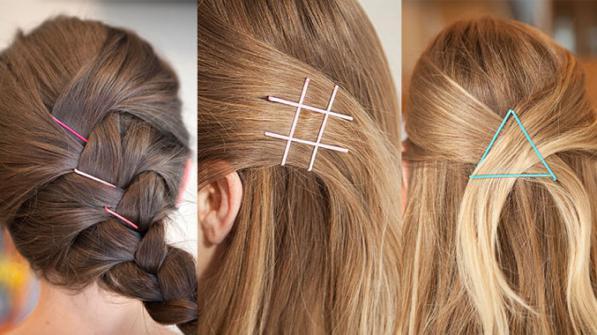 Mollette e forcine per capelli- idee per come usarle