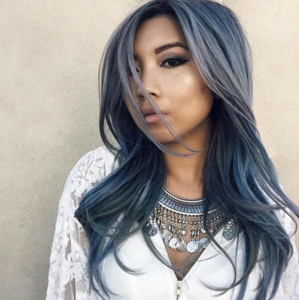 Capelli color jeans - la tendenza 2016 sono i Denim Hair 6