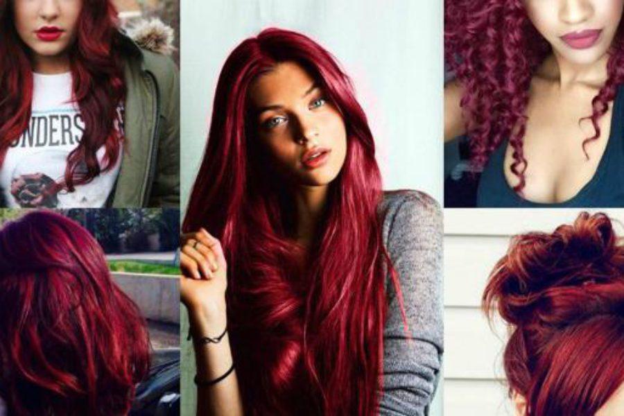 Capelli rosso intenso: il colore 2017 è il Bold Burgundy