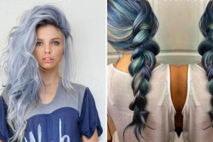 Capelli color jeans: la tendenza 2016 sono i Denim Hair